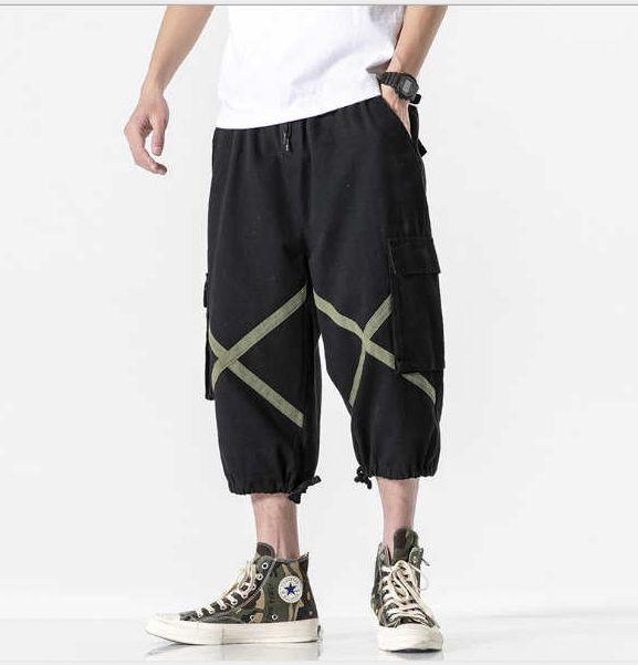 2020 Mens del progettista dei pantaloni pantaloni nuovo modo di estate leggero a strisce allentato di alta qualità casuali Harem M-4XL