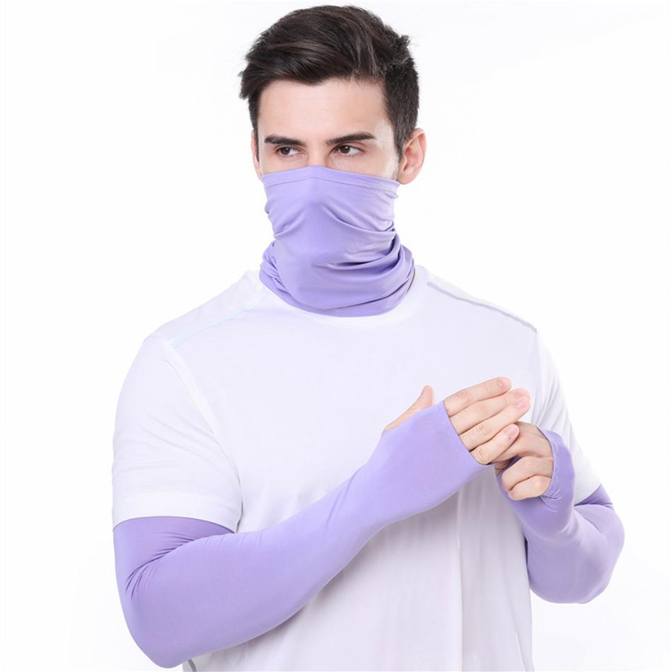 luvas homens Bandana Magia lenço luvas protetoras definir Esporte Sun Proteção UV Cooling Máscara Facial para a execução de Pesca Ciclismo LJJA4080