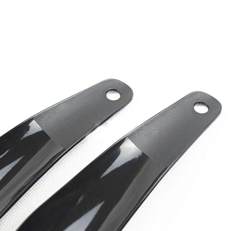 2pcs Lifter flessibile robusto slittamento scarpe Corni 16 centimetri Nero Plastick professionale scarpe Horn Cucchiaio Forma Shoehorn scarpe Accessori