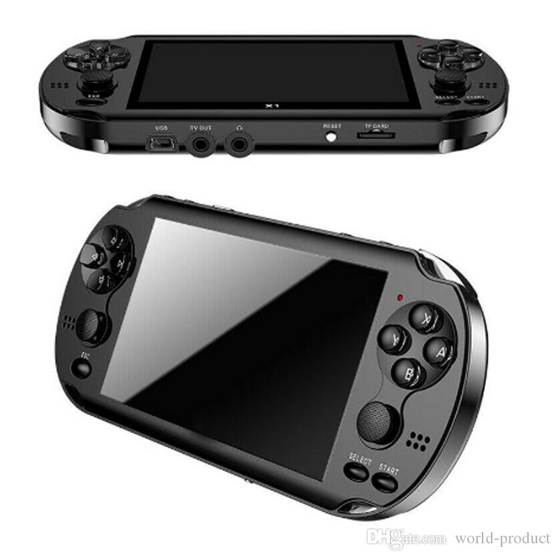 8GB X9 Handheld Game Player 5 Inch Large Screen Portable Game Console MP4 Player with Camera TV Out TF Video