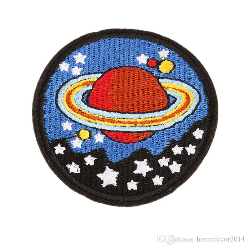 6CM Embroidered Patches Planet Stars Space Universe Sew Iron On Badge For Bag Jeans Hat Appliques DIY Sticker Decoration Accessories