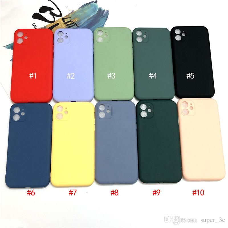 Candy Color Silicone Case For iPhone 11 Pro Max New Upgrade Protection Camera Soft TPU Back Cover For Iphone xr xs Free Shipping