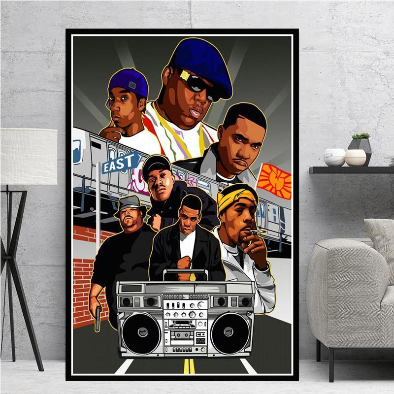 Hot Tupac West Coast  Notorious 2PAC JAY-Z Print Fabric 14x21 27x40 Poster T593