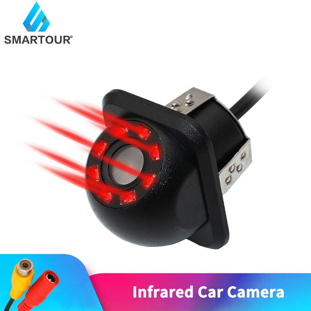كاميرا الرؤية الخلفية للسيارات الذكية ترجع للكاميرات الرؤية الليلية تعكس موقف السيارات شاشة CCD ضد الماء 140 درجة HD