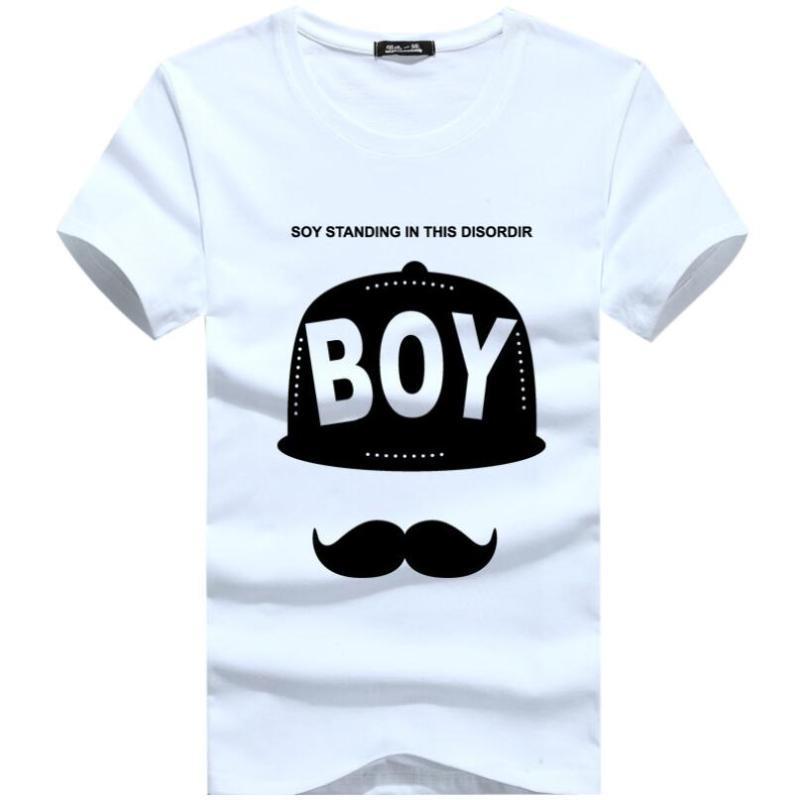 2020New Marka Basit yaratıcı tasarım Baskı pamuk T Gömlek Erkek Yeni Geliş Yaz Stil Kısa Kollu Erkek t-shirt