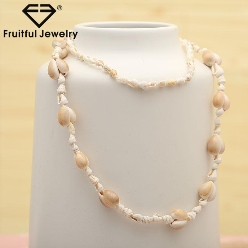 Fruitful Trendy Natural White Seashell Necklace Elegant Charm Collar Conch Shell Jewelry Accessories Summer Beach Gift Female