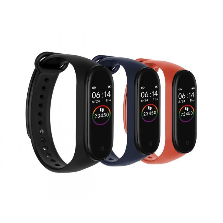 Os mais recentes m4 inteligente Pulseira Heart Rate Toque do presente Monitor de sono de Fitness Rastreador Bluetooth Bracelet pedômetro Sport Watch para iOS Android