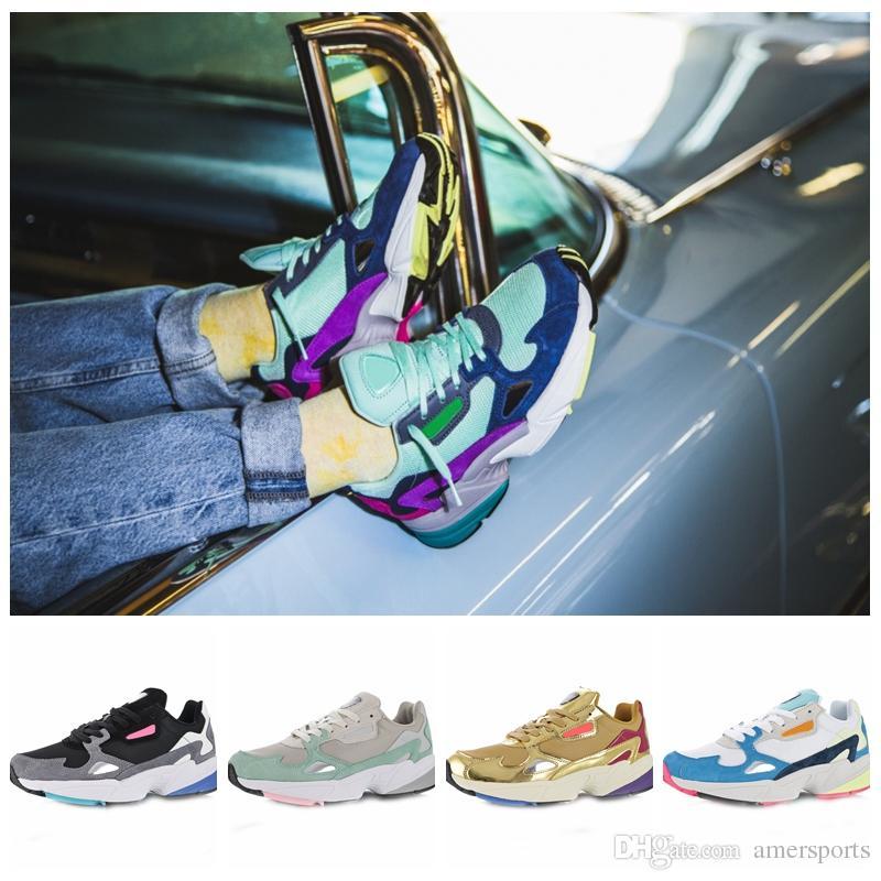 Compre Adidas Falcon W Zapatos Corrientes Para Mujeres Hombres Zapatos  Falcon De Alta Calidad Diseñador De Lujo Zapatillas De Deporte Originales  Para ...