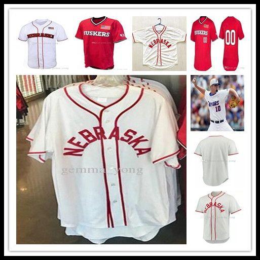 A buon mercato Personalizzato Nebraska CornHuskers Camicie di sport degli uomini delle donne delle donne dei bambini delle donne delle donne delle maglie di baseball della dimensione S-4XL Vendita calda di trasporto libero