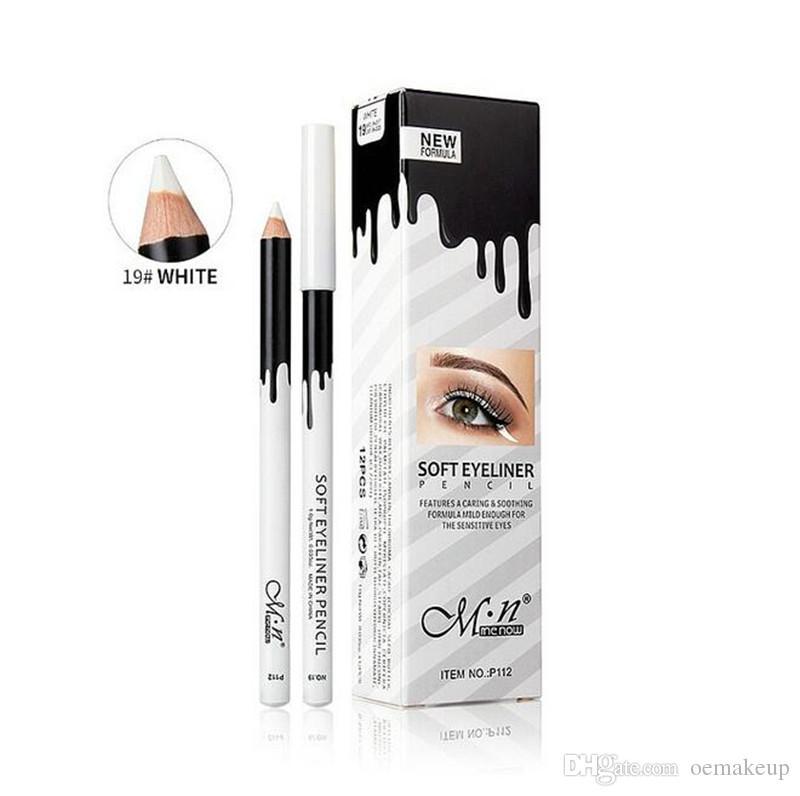Menow للماء المكياج عيون بيضاء بطانة أقلام الرصاص البيضاء كحل ماكياج السلس سهلة ارتداء عيون brightener العين بطانة أقلام