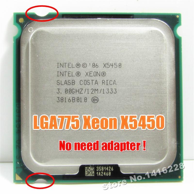 Computer-Komponenten CPUs Xeon X5450 Prozessor mit 3,0 GHz 12 MB 1333 SLBBE SLASB Nähe Core 2 Quad Q9650 arbeitet auf LGA775 Motherboard