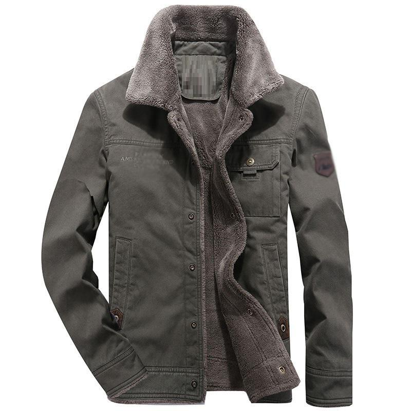 2019 die neue Ankunftswintermantel warmer dicke Fleecejacke Mantel Umlegekragen Einreiher outwear lange Ärmel männliches Outfit