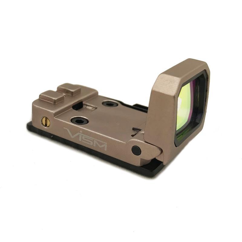 Flip Red Dot Pistolet Sight Vism Chasse Reflex Holographique Pliant Sight Avec Mount 20mm Et G Mount Tan