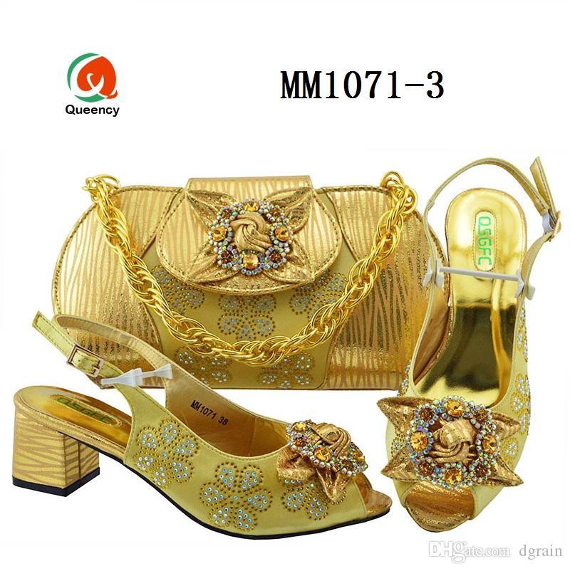 Dgrain Hochwertige Mode Italienische Kristall Abend Party Taschen Und Schuhe Set Ankara Taschen Und Schuhe Designs Set Für Frauen Taschen Eine Schuhe