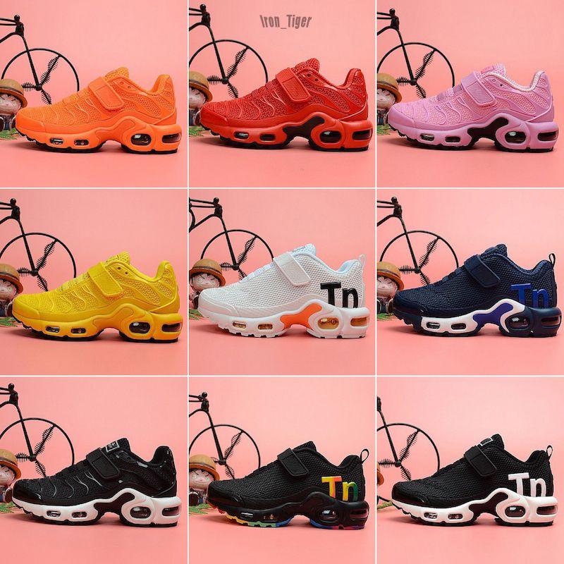 Nike Mercurial Air Max Plus Tn 2019 Chaussures Aire niños zapatos casuales Tn gran ventaja de las muchachas de Camo Negro Blanco Deportes zapatillas Run además de diseño TN za28-35