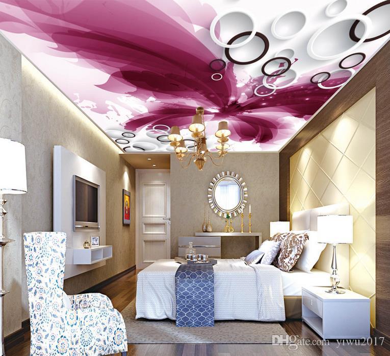 Personalizzato 3D Wallpaper RollLeather pelle morbida copertura morbida zenith soffitto soffietto Camera da letto soggiorno soffitto decorazione murale parete