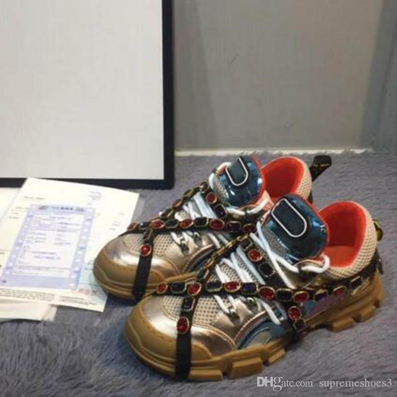 Новая Повседневная обувь: люкс Алмазной обуви Полной кожи Повседневной обувь платформы Trekking загрузка Узелок из натуральной кожи Тройного Sneaker KK1