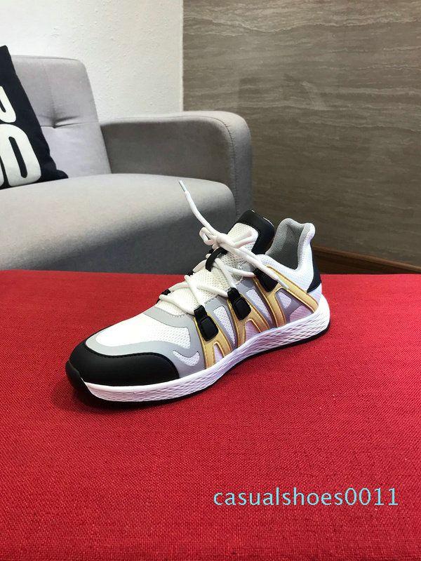 Sıcak Satış-Yeni Geliş Erkekler Günlük Ayakkabılar 2 Renkler Nefes İnek Deri Casual Yürüyüşü Açık Lace Up Sarı Siyah Ayakkabı Sneakers Boyut 38-44 c11
