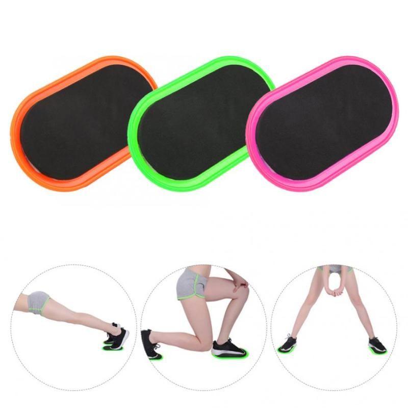 2 pezzi Fitness scorrevole Disk fitness scorrevole Disco Palestra Pad Sport Muscolo addominale attrezzature Tappetini Tappetino diapositive