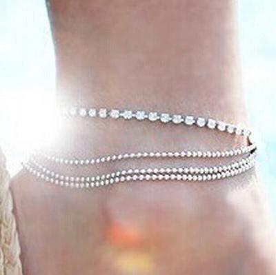 Argento colore moda praia braccialetto alla caviglia sulla gamba 2019 moda estate spiaggia piede gioielli sandalo a piedi nudi B95