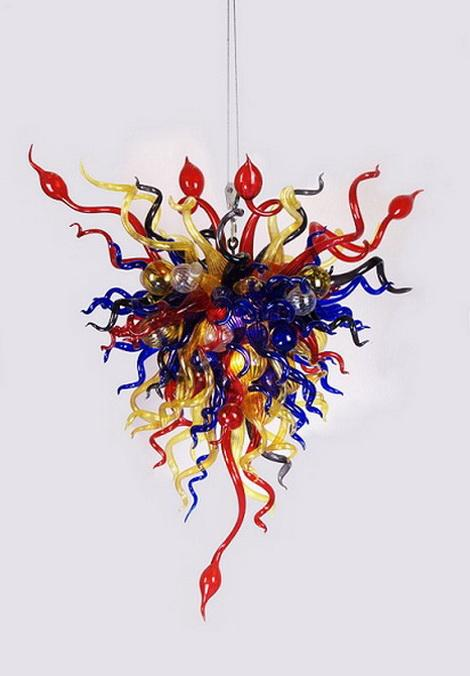Multi Colored Chihuly Flower Glass Pendant Lamp Light LED Modern Chandelier for House Villa Market Building Decor