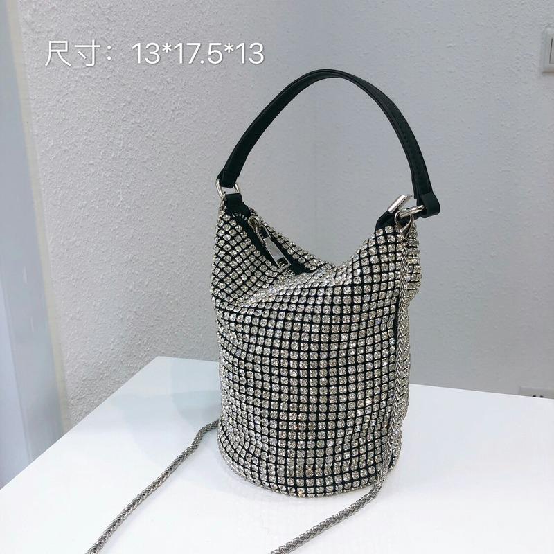 2020 New Style WOMEN'S Bag Man-made diamante Balde Saco de mão Crossbody Senhoras Sacos de mão