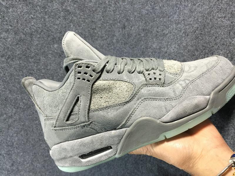 Hot Sale 4 Cool Grey White Man Basketball-Designer-Schuhe Special Edition IV Grau Suede Art und Weise Sport Sneaker beste Qualität kommt mit Kasten