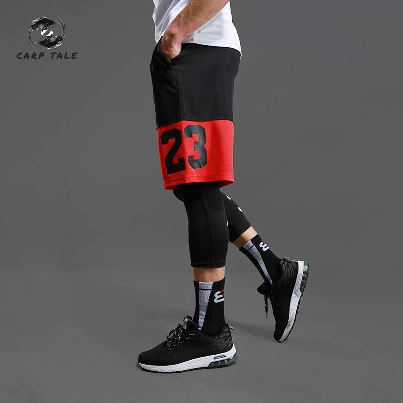 Basketball pants men's sports shorts over the knee five pants large size loose quick-drying running fitness sweatpants