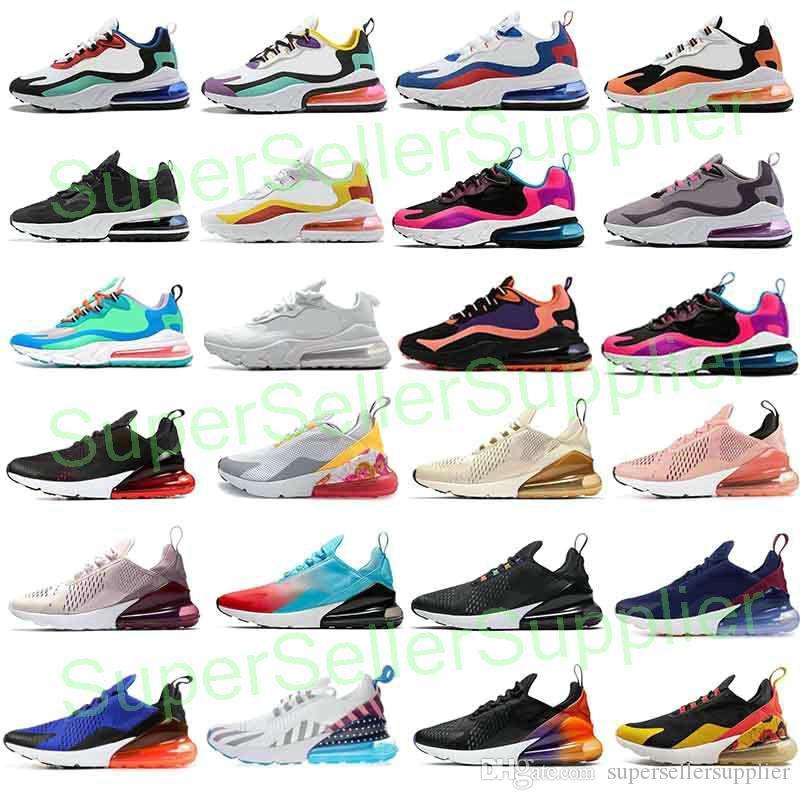 Compre 2020 Nike Air Max 270 React Air Max 270 Mujeres 27C Hombres Zapatos  Para Correr BAUHAUS ÓPTICA HYPER JADE Rosa Violeta Brillante Hombre De ...