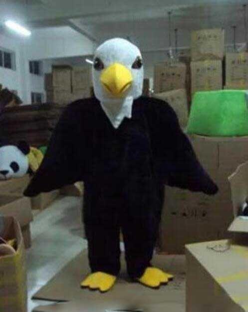 Top vendendo Águia Careca moive trajes de mascote personagem de TV