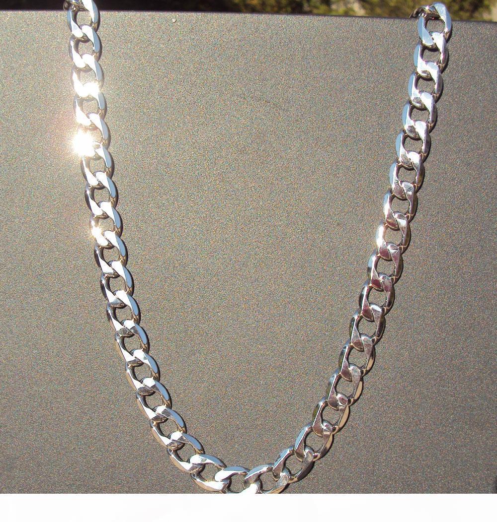 CLASSICAL 24K WHITE REAL SOLID GOLD FINISH 마이애미 쿠바 LINK 목걸이 체인 BIRYHADY VALENTINE 선물 귀중한