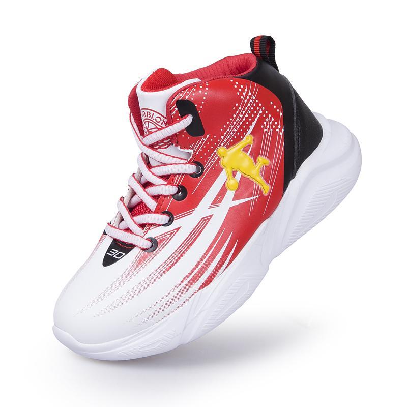 High Quality Soft Top antideslizantes Crianças Sneakers Crianças Esporte Sapatos sola grossa Meninos de basquete ao ar livre Menino instrutor Basket