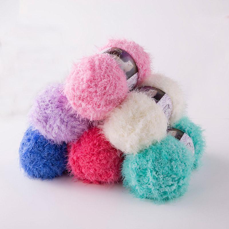 100g / ball Capelli lunghi visone filato in pelliccia mohair cachemire filato per il fai da te a mano a maglia Crochet Sweater Discussione bambino Yarn JK495