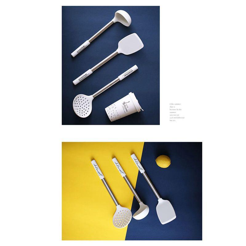 Cuisine Ustensile Ensemble poignée en métal en acier inoxydable Ustensiles de cuisine Outils de cuisine cuisson