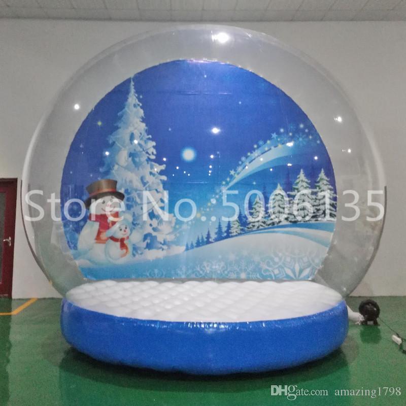 عيد الميلاد نفخ الثلج غلوب صور كشك الإنسان الحجم 2 متر، 3 متر، 4 متر سنو جلوب لعيد الميلاد زخرفة atppisticing الفناء غلوب رخيصة