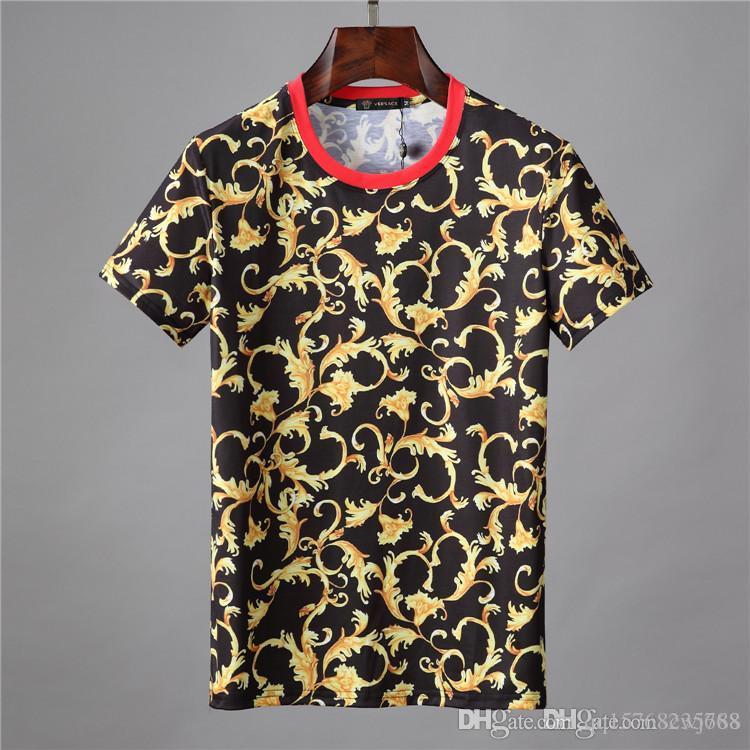 shirt do projeto Luxo 19ss e shorts T-shirt 2019 verão 100% branco da forma T-shirt impressão dos homens de qualidade chegada top desconto