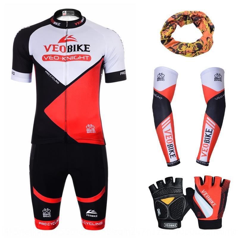 VEOBIKE traje de montar en bicicleta corta de bicicletas y guantes guantes de manga de la manga paquete de combinación