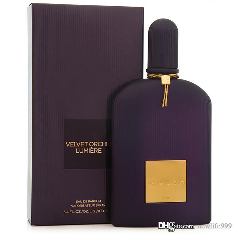 Classic lady perfume VELVET ORCHID aromatic spray EDP100ML3.4FLOZ lasting fragrance high quality free mail fast delivery