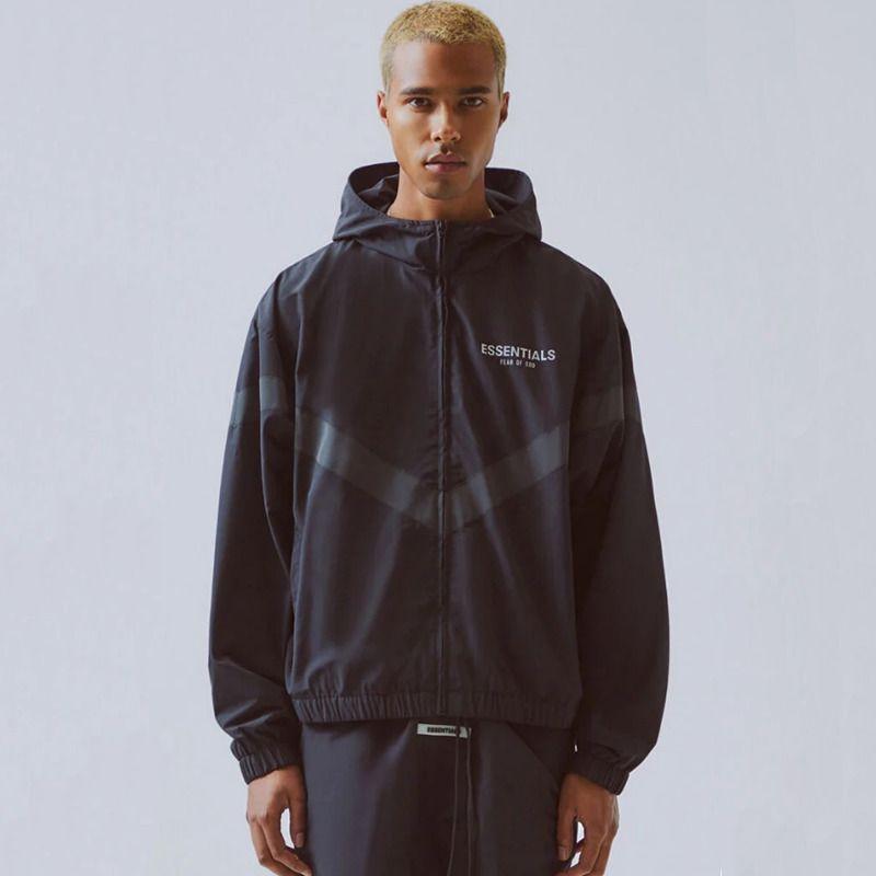 En 19SS Hip Hop Sokak 3M Yansıtıcı WINDBREAKER Kapşonlu Ceketler Erkekler Kadınlar Günlük Sade Hip Hop Coat Moda Dış Giyim HFLSJK325