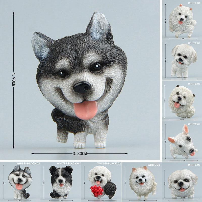 Cute Dog Shape Magnetic Refrigerator Stickers Sets Decals Fridge Magnets Tourist Souvenir Travel Animal Image Fridgemagnet Toys Resin Decor