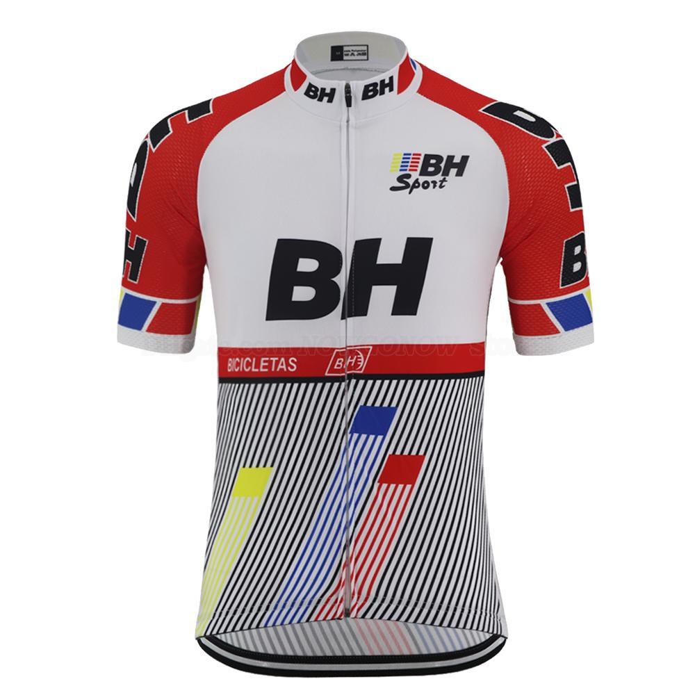 여름 NEW 레트로 프로 팀 자전거 사이클링 저지 남성의 짧은 소매 도로 경주 자전거 착용 의류 빠른 건조 통기성 자전거 저지