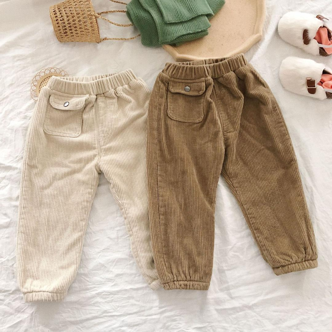 UK Winter Boys Girls Warm thick Cotton Down Trousers Stretch Pants For 1-5Y Kids