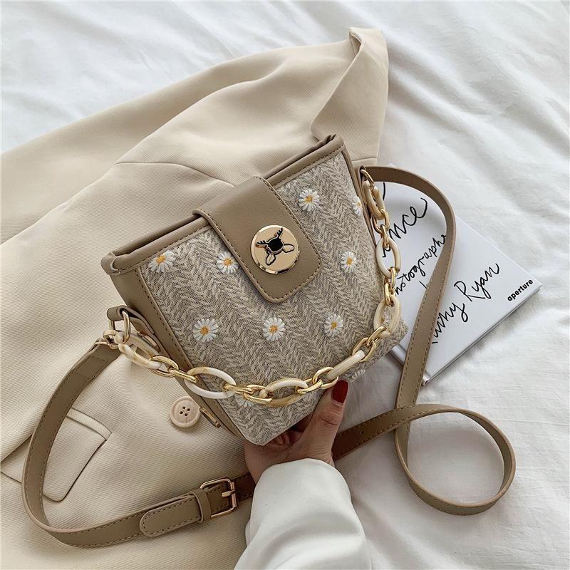 Pu couro Casual Feminino Bags Bandoleira For Women 2020 Flowers Shoulder Messenger Bag Ladies mão Sling Luxo Bolsas Designer