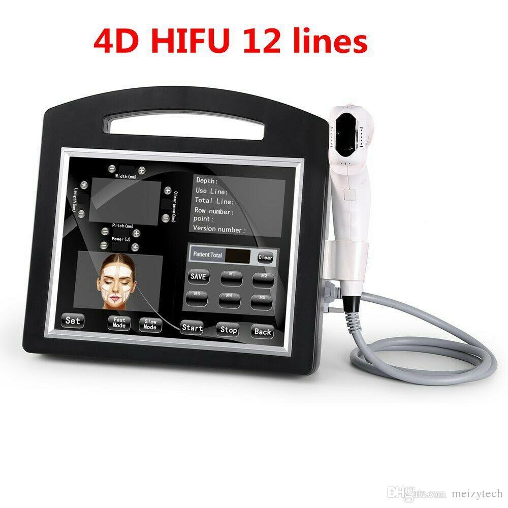 Новый профессиональный 3D 4D 12 Линии 20000 Выстрелы ультразвуковая абляция Hifu машина кожи лица SMAS тела для похудения Удаление морщин