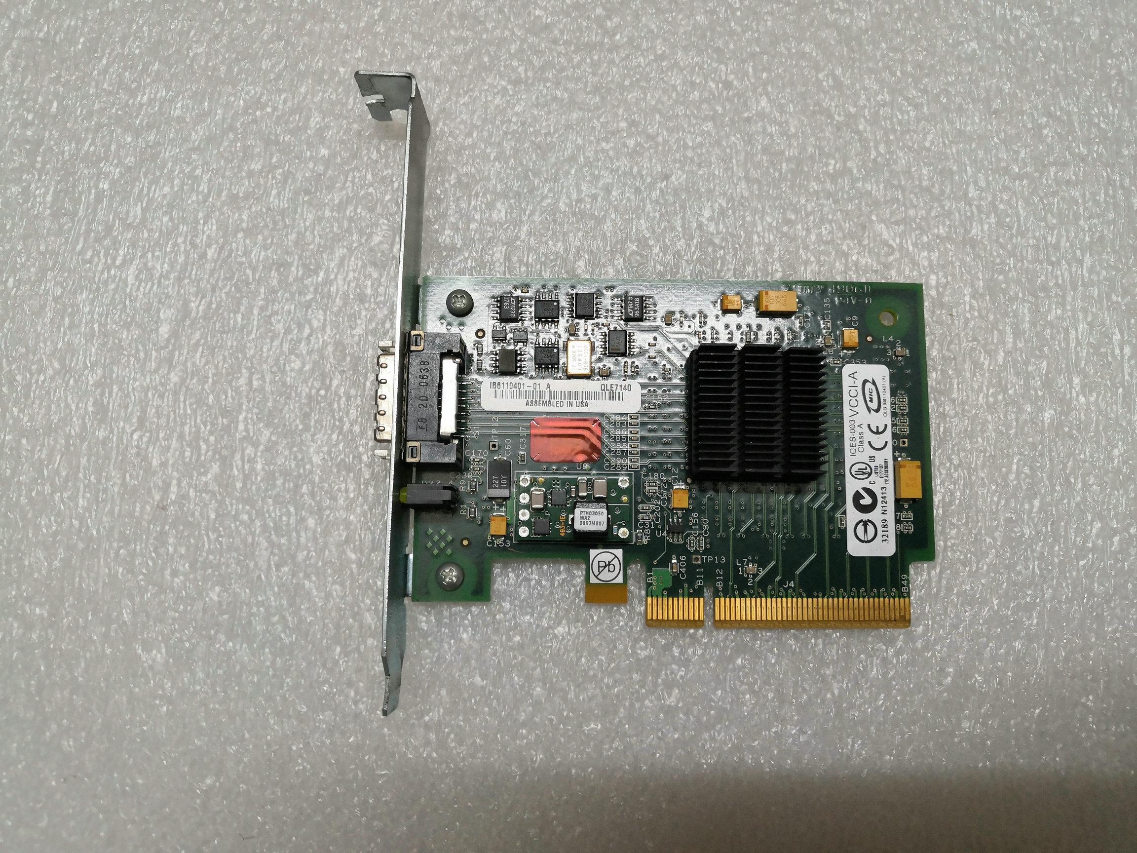 QLE7140 QLOGIC QLE 7140 10 Gb INFINIBAND CX4 4X% 100 Çalışma orijinal