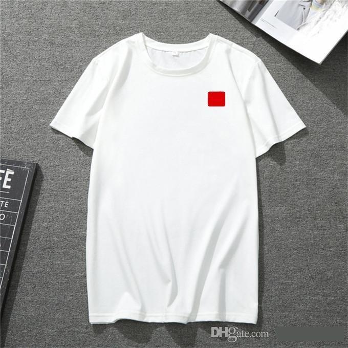 2020 new mens t shirt European American popular small red heart printing T-shirt men women couples t-shirt