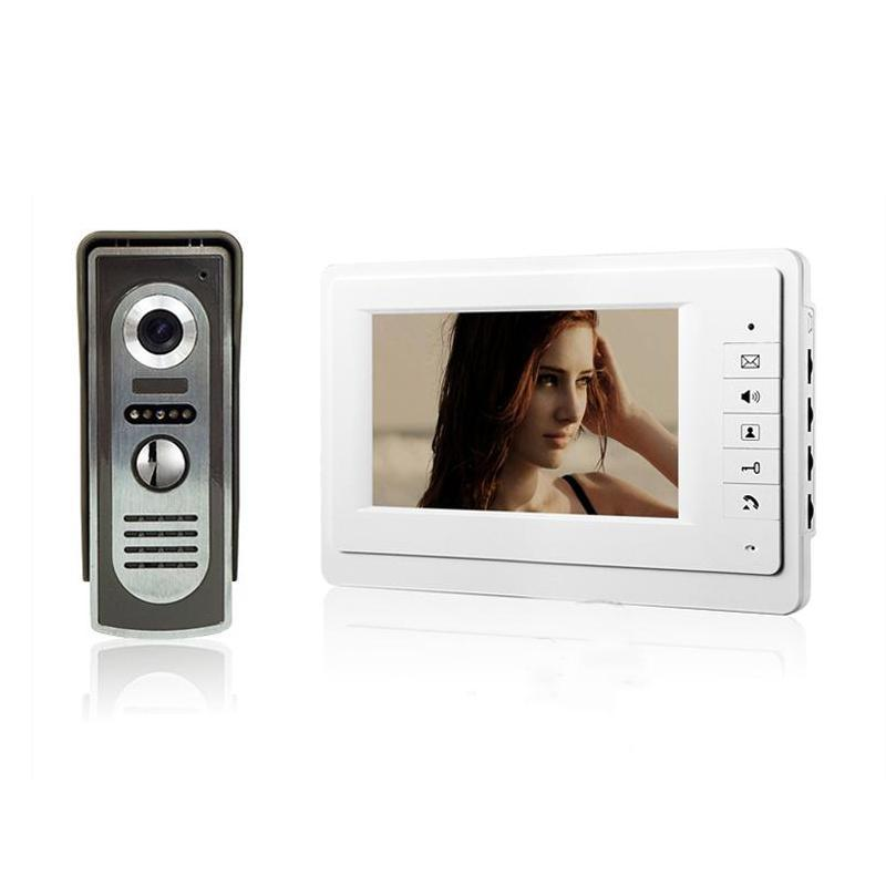 7 inch TFT Color Video Door Phone Intercom System IR Outdoor Metal Panel Color Screen Monitor V70F-M2