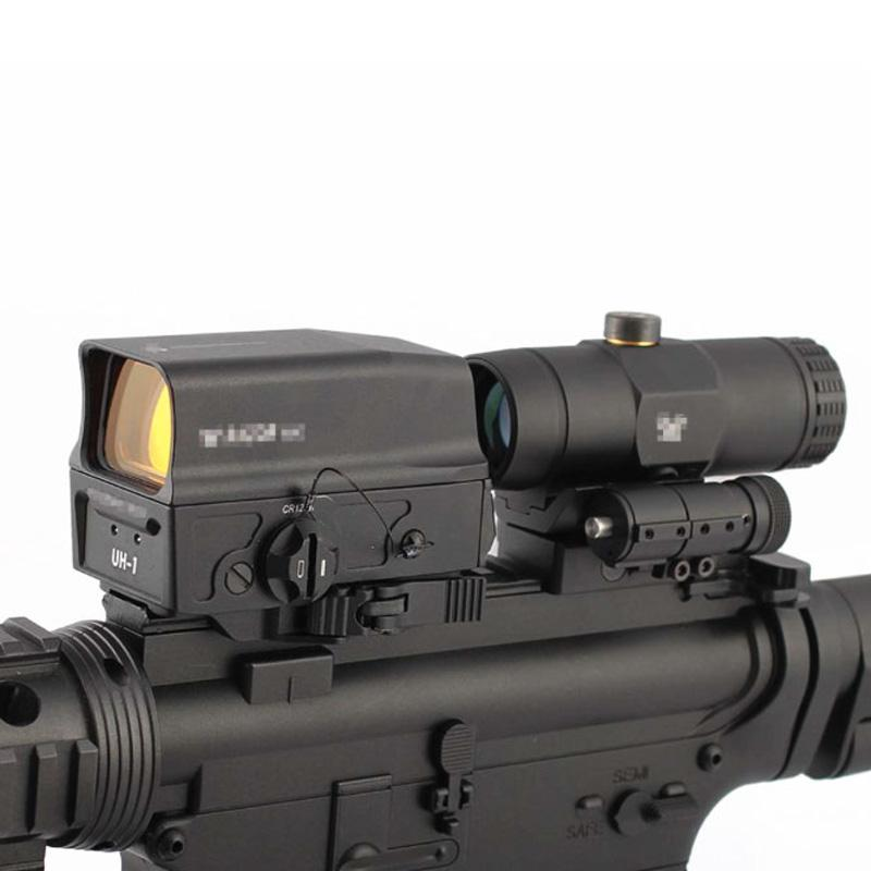 Taktische UH-1-holographisches rotes DOT-Jagdgewehrbereich und VMX-3T 3X-Lupe-Combo mit Wechseln zu Seite STS-Montierung Fit 20mm Schiene