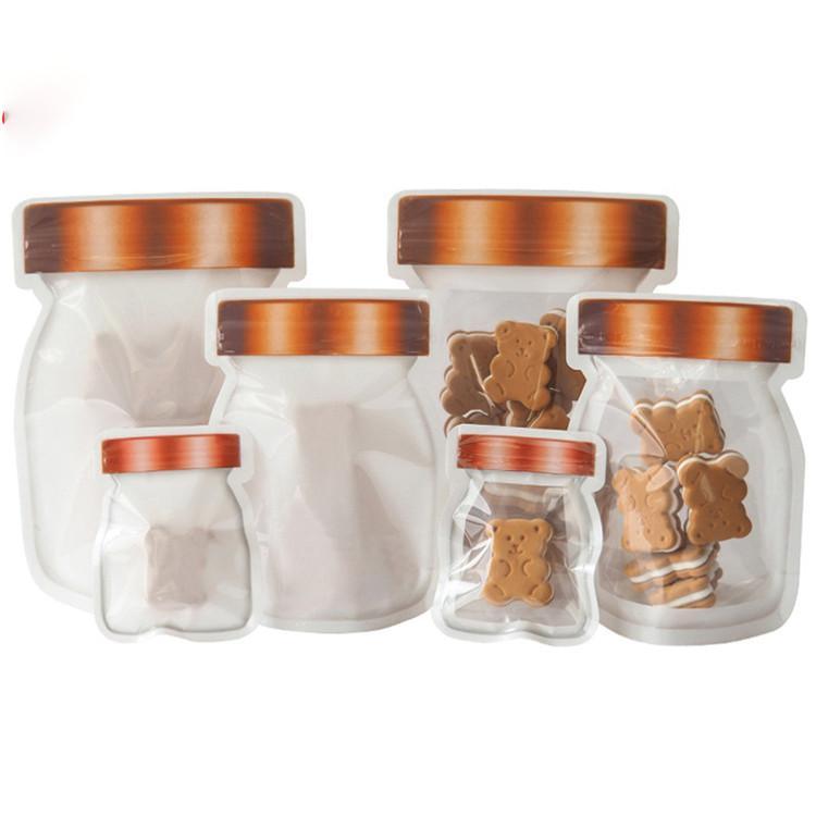 Mason Jar Zipper-Taschen Food Storage Snack Sandwich Ziplock Taschen Wiederverwendbare Airtight Seal Food Storage Taschen Leakproof Food Saver Beutel