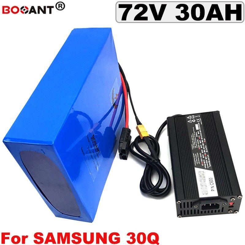 72V 30AH bicicleta elétrica da bateria de lítio para Samsung 30Q 18650 72V E-bike bateria Li-ion 2000W 3000W com 5A Carregador frete grátis